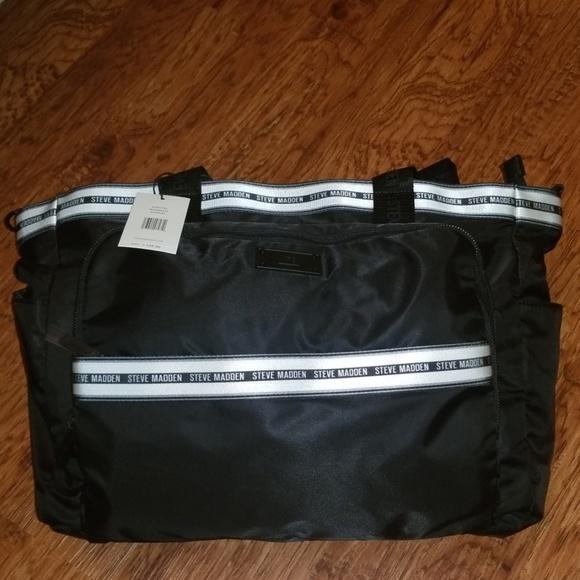 Steve Madden Handbags - NEW 💥BEST Large Steve Madden Black/White Tote